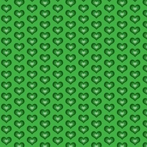 Green hearts - small