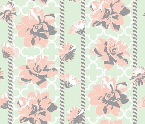 lattice garden fabric by diane_gilbert on Spoonflower - custom fabric