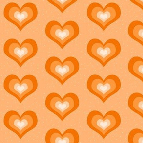 Orange Hearts - large