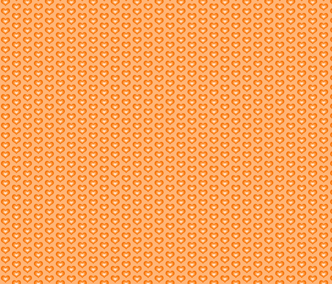 Orange hearts - small fabric by blancamonroe on Spoonflower - custom fabric