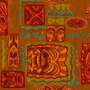 Tiki Family Brown