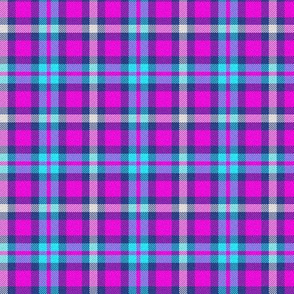 Blue and Pink Plaid