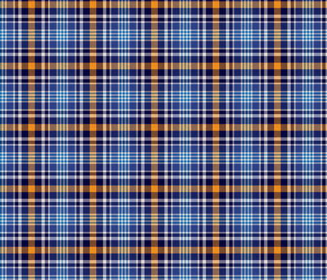 Blue and Orange Plaid fabric by jandq0306 on Spoonflower - custom fabric