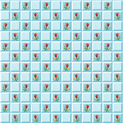 Sussex || flower floral geometric tile grid check leaves