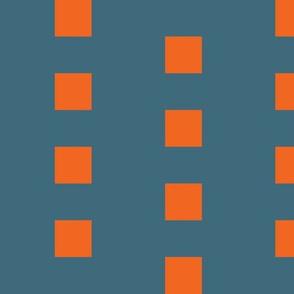 Bright Orange Squares