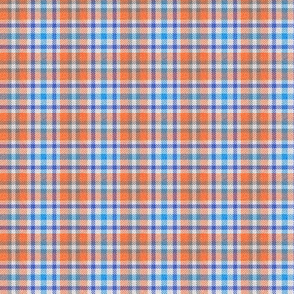 Orange and Blue Plaid