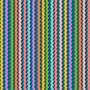 Rick-a-Rack* || vintage sewing notions ricrac rickrack stripes zigzag zig zag waves rainbow