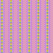 Wyandotte* (Lavender Disaster) || vintage style feedsack feed sack flower floral tulip polka dot stripe