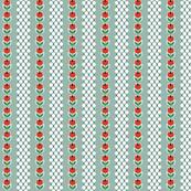Wyandotte* (Camouflage) || vintage style feedsack feed sack flower floral tulip polka dot stripe