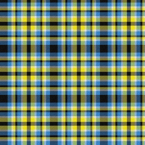Yellow, Blue and Black Plaid