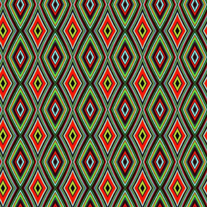 Modern Geometry Red Green Diamond eave