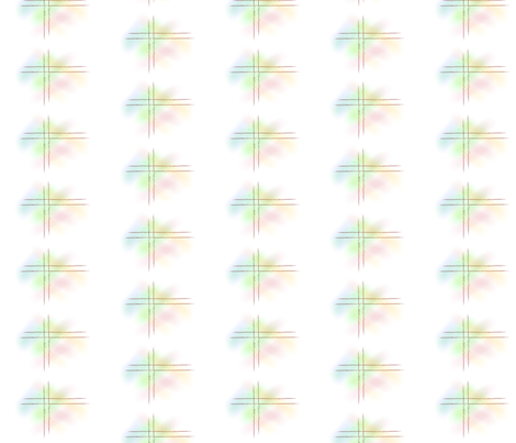 Stained Glass Cross fabric by woolranch on Spoonflower - custom fabric