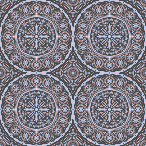 Southern Circles (Rose Quartz and Serentiy) fabric by robyriker on Spoonflower - custom fabric