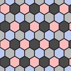 Hexigons (Rose Quartz and Serenity)