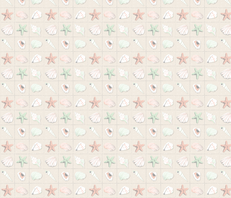 Seashell Collection fabric by julia_diane on Spoonflower - custom fabric