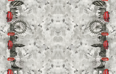 London Ink - Border fabric by jaana on Spoonflower - custom fabric