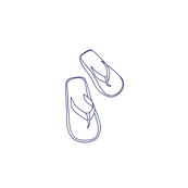 Flip Flop Polka Dots