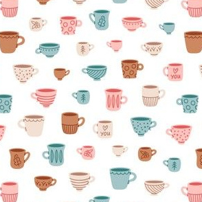 Cute mugs pattern