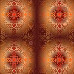 Square flower pattern symmetrical