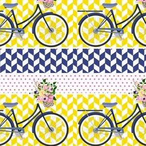 Floral Bicycle Mix and Match Pattern