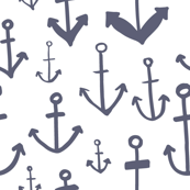 Navy Anchors Aweigh Pattern