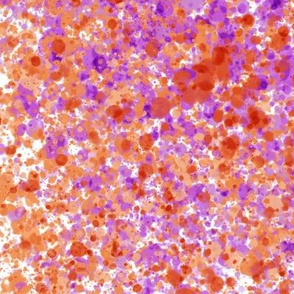 White, Orange & Purple Splatter Painting Pattern