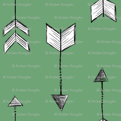 Arrows with Green Background
