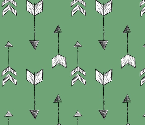 Arrows with Green Background fabric by averielaneboutique on Spoonflower - custom fabric
