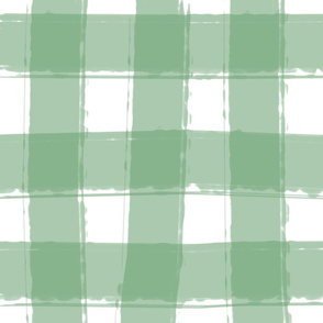 Watercolor Check in Light Green