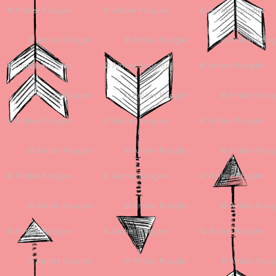 Arrows with Pink Background