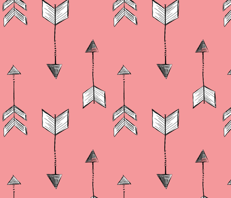 Arrows with Pink Background fabric by averielaneboutique on Spoonflower - custom fabric