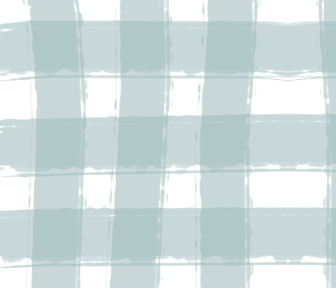 Watercolor Check in Blue fabric by averielaneboutique on Spoonflower - custom fabric
