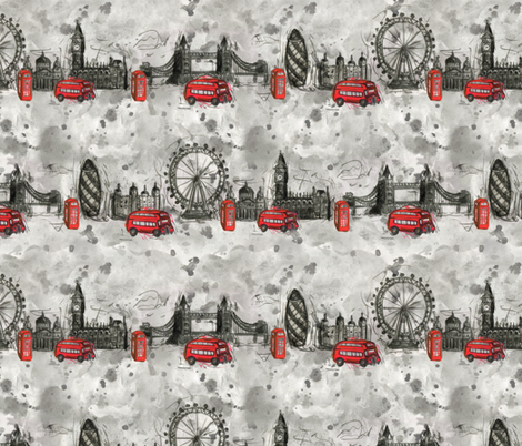 London Ink - Stripes fabric by jaana on Spoonflower - custom fabric