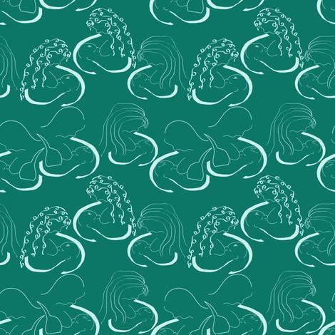 breastfeeding blues fabric by pamelachi on Spoonflower - custom fabric