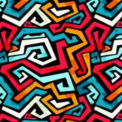 Funky Modern Graffiti Bright Color Design