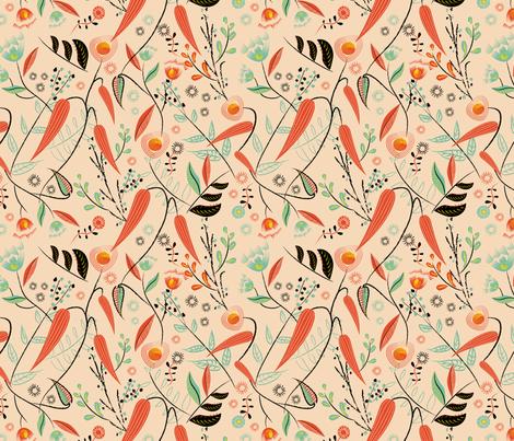 Brushstroke Flowers Smaller fabric by vinpauld on Spoonflower - custom fabric