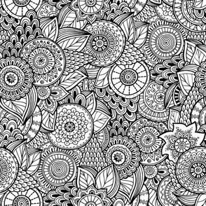 Henna Fabric Wallpaper Gift Wrap Spoonflower