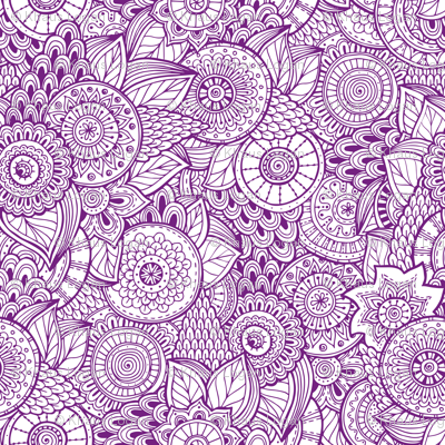 indian henna design purple fabric khaus spoonflower