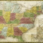 1839 USA Map