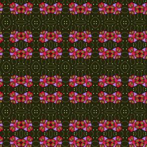 modern flower green lilac fuchsia
