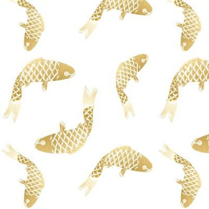 Gold Metallic Fish Goldfish