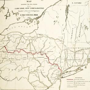 "1842 New York & Lake Erie Railroad (21""W)"