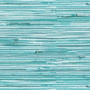 Aqua teal grasscloth woven wallpaper turquoise