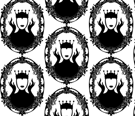 Evil_Queen_oval_frame_swirly fabric by baxtergraham on Spoonflower - custom fabric