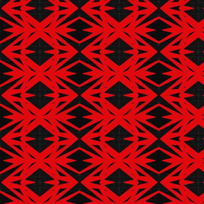 Red Black Diamonds Triangles