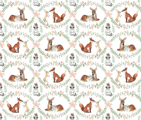 Forest Friends fabric by tworabbitsdesigns on Spoonflower - custom fabric