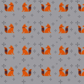 Foxes Facing
