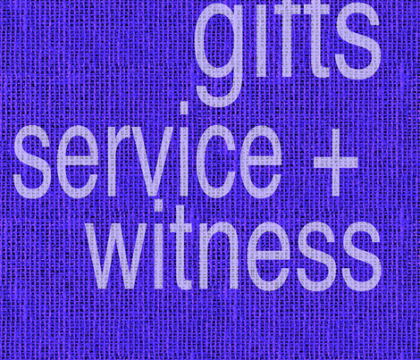 Prayers Presence Gifts Service Witness fabric by sewstoles on Spoonflower - custom fabric