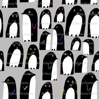 Frosty penguins