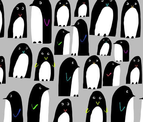 Frosty penguins fabric by nicolaclare on Spoonflower - custom fabric